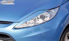 FORD Fiesta MK7 JA8 JR8 (2008-2012)Pre FaceLift Headlight covers Eye Brows ABS
