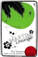 Martini Lounge Alcohol Vodka See Double Feel Single Aluminum Sign