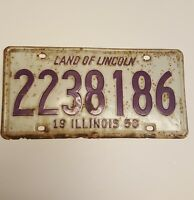 Land of Lincoln Illinois 1958 Metal Car Vintage 1950's