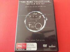 THE RING 1 & 2 TWO FILM BOX SET DVD - FREE POST - OZ SELLER