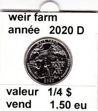 pièces de 1/4 $  weir farm 2020 D