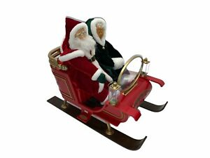 """Gemmy Santa and Mrs. Claus """"A Sleigh Ride"""" Lighted Musical Animated Decor READ"""
