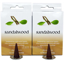 30 x SANDALWOOD High Quality Incense / Fragrance / Joss Cones With Holders