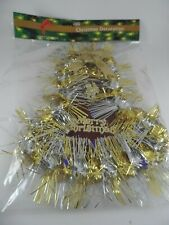NIP Merry Christmas Glittered Gold & Silver Bell Party/ Christmas Decoration
