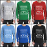 Happy Chrismukkah Ugly Xmas / Hanukkah Sweater Funny Long Sleeve T-Shirt Gift