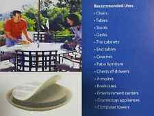 """2-1/4""""Commercial Grade Sliders for Furniture/ Patio/Deck 100pk Grey"""