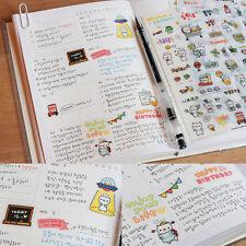 6 Sheets Pig Pattern Transparent Calendar Book Sticker Scrapbook School Supplies
