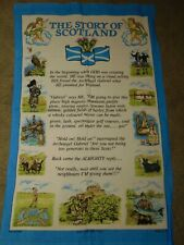 The Story of Scotland Cotton Tea Towel  W18 x L30