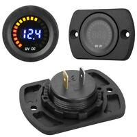 Universal 12 Voltage Voltmeter LED Digital Panel Volt Battery Gauge Monitor