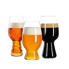 Spiegelau Craft Beer Tasting Kit, Set of 3 Different Glasses: IPA, Stout, Wheat