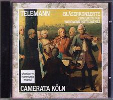 TELEMANN Bläserkonzerte Woodwind Concerto CAMERATA KÖLN CD Flute Oboe Recorder