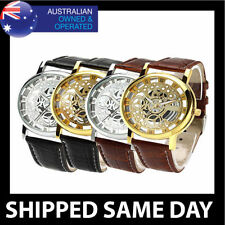 Faux Leather Band Luxury Analogue Round Wristwatches