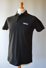 Men's Black ellesse Short Sleeved Polo Shirt Size S, Small.
