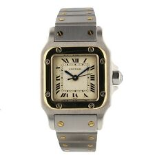Cartier Santos Galbee Two Tone Steel Yellow Gold 24 mm Ladies Automatic Watch
