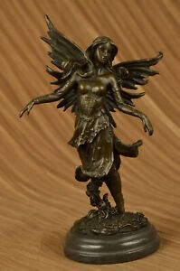Art Deco Original Vitaleh Fairy Bronze Sculpture Valentine Gift Present Figurine