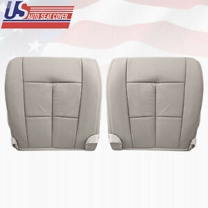 2009 2010 Lincoln Navigator Driver & Passenger Bottom Leather Seat Covers Gray