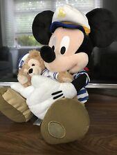 "Disney Store Exclusive Rare Sailor Mickey 18"" and Mini Duffy Soft plush Cruise"