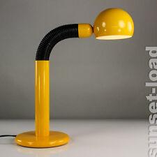 alte Schreib Tisch Leuchte Pop Art Gelb Flexo Schwanenhals Lampe 70er 80er