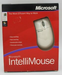 Vtg Microsoft IntelliMouse 3.0 Corded Computer Mouse