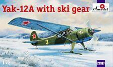 Amodel 1/72 Yakovlev Yak-12A with skis # 72187