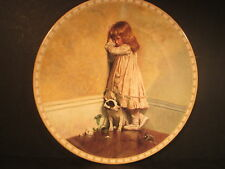 Royal Doulton Victorian Childhood The Original In Disgrace Puppy Ltd Ed Plate
