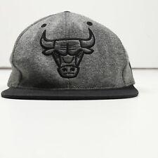 Vintage Mitchell & Ness Chicago Bulls Gorra Pico Plano Logo Grande Gris | One Size
