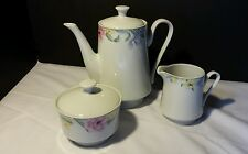 Gallery by Inhesion ~ Coffeepot, Sugar and creamer set ~ Lovely Floral China
