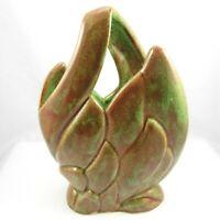 West Coast Pottery Stylized Leaf Vase California USA Vintage 1950s Mid Century