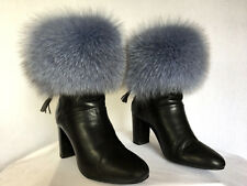 Unique Transformer Fox Fur Boot / Hand Cuffs Scarf and Headband in One Item Gray