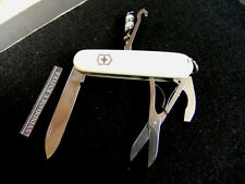 VICTORINOX COMPACT-SWISS ARMY KNIFE-UNIQUE WHITE-CAMPING-SCOUTING-FISHING-HIKING