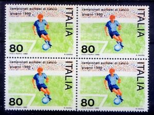 Italy 1980 MNH Blk 4, European football cup, Sports