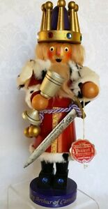 """Steinbach  """"King Arthur of Camelot""""  Wooden FIGURINE 1163/7500 Limited Edition"""