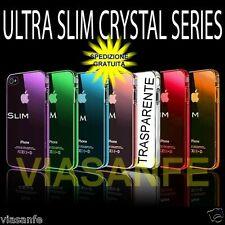 Cover Custodia Bumper Per iPhone 4S Silicone Flessibile Gel Tpu Trasparente Slim