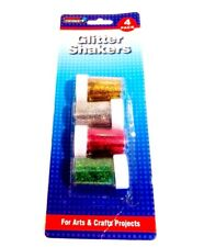 4 PACK GLITTER SHAKER POTS CHILDRENS ART and CRAFTS CARDS SPARKLE