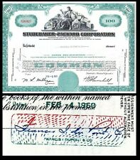 Broker Owned Stock Certificate: Francis I duPont,  payee; Studebaker Cp, issuer