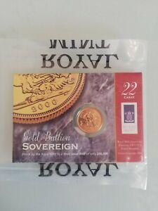 2000 Gold Full Sovereign, Bullion Sovereign still sealed in Royal Mint Packaging