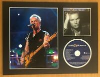 Sting   **HAND SIGNED**  16x12 mounted display ~ AUTOGRAPHED ~ The Police