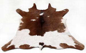 """Rare Cowhide Rugs Calf Hide Cow Skin Rug (28''x30"""") Brown & White CH8484"""