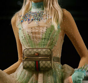 46IT/XL- Gucci All over crystal embroidered Bodysuit Top- BNWT- RRP$7,000 AUD