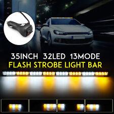 35'' 32LED Emergency Warning Traffic Advisor Flash Strobe Light Bar Yellow Lamp