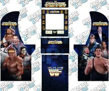 Arcade1up Arcade Cabinet Graphic Decal Complete Kits - WWF Superstars Custom