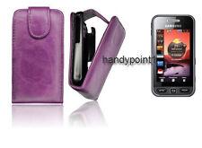 Flip Style Case Samsung GT-S-5230 Star 1 Handy Klapp Tasche Lila Hülle
