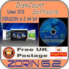 Zorin 6.4 64 bit système d'exploitation Linux fonctionner en mémoire, sole installer ou double boot