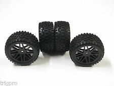 4x Mounted Off Road Wheel Tires for Traxxas 1/16 e-Revo MERV SHIPS FROM USA 12mm