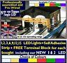 QUALITY 9v 12v DC 3528 LED SUPAFLEX LIGHTING STRIP MODEL RAILWAY N OO HO O GAUGE