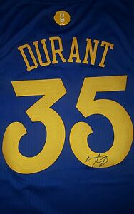 KEVIN DURANT signed Christmas GOLDEN STATE WARRIORS NBA Swingman Jersey w/COA