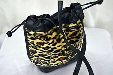 Vintage Animal Print Faux Fur Shoulder Bag Bag Brown & Black