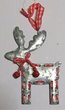 Décoration de sapin forme renne à suspendre en métal  (NO69)