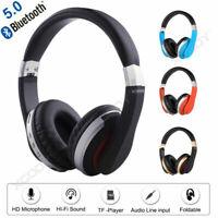 Casque Sans Fil Bluetooth 5.0 à Réduction de Bruit Casques Super Bass MIC