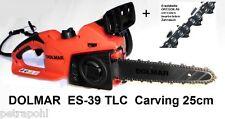 Carvingsäge Dolmar ES-39 / 43 TLC  25cm Elektro Kettensäge + Carving Ersatzkette
